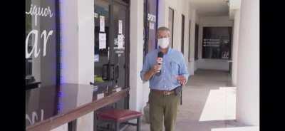 Florida bar owner bans customers wearing facemasks