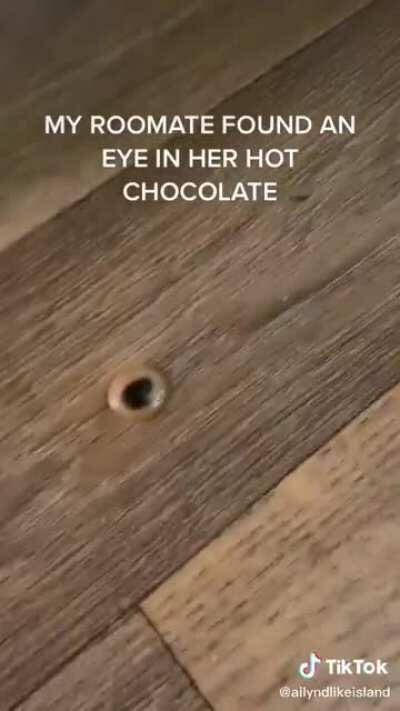Keep an eye out for foreign objects in hot chocolate.