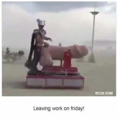 NSFW leaving work on friday