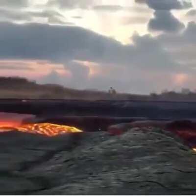 Lava running