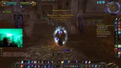Was playing some WoW and this happend to a friend and me