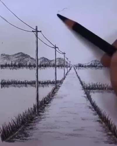 Perspective drawing by XHH4133 (douyin)