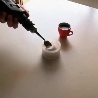 WCGW making a coffee in a different way