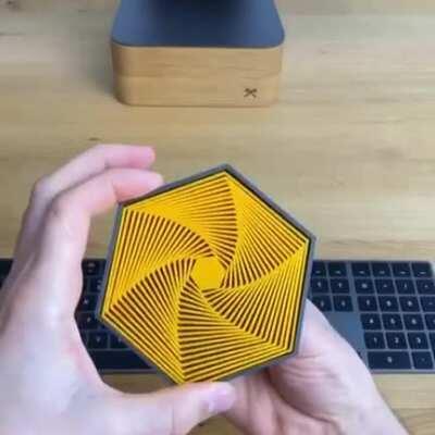 3-D printed hexagon