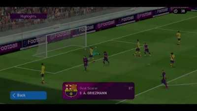 Griezmann trying to prove why I should be choosing him over Maradonna. Matchday with Barcelona squad save for Suarez.