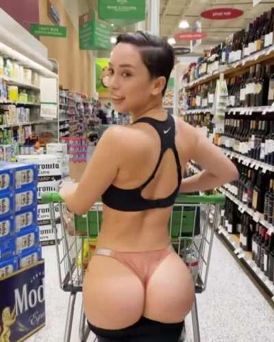 in the grocery store