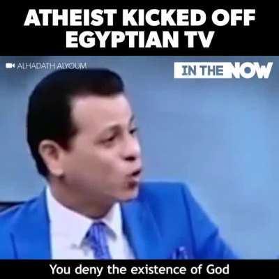 Atheist kicked off Egyptian TV