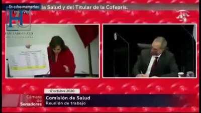 """""""Pequeño Virrey de las camas vacías y los muertos en casa"""" Lilly Téllez a López Gatell"""