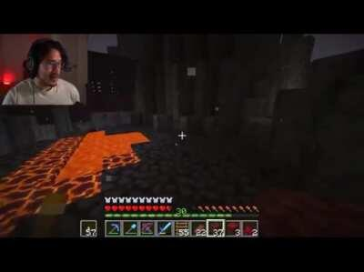 Mark finds a nether fortress