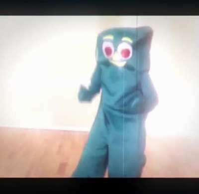 [FLASH/FLICKER WARNING] An edit of James dancing as Gumby