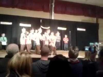 Here is a video of my friend falling over during a play years ago. He suffered a minor concussion. (I'm at the front of the line)