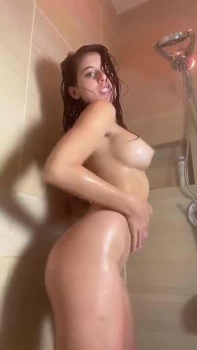 Enjoy this 8min video of her in the shower