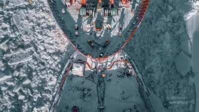 "75,000 HP nuclear-powered icebreaker ""Yamal"""