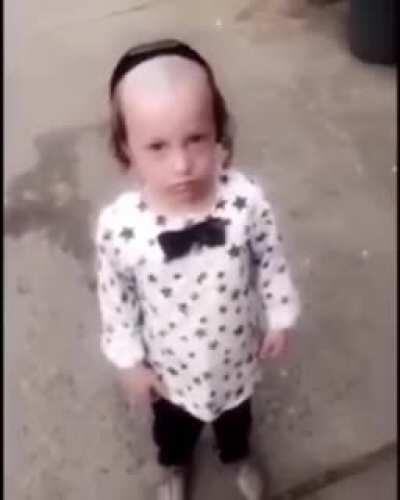Poor little kid gets roasted on the streets