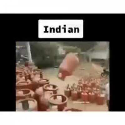 Flipping a container neatly into position: US vs India