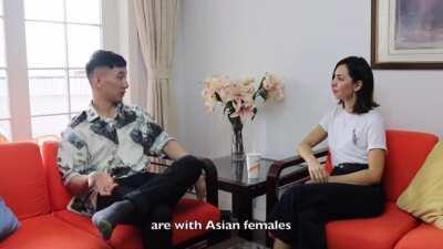 Asian man get trigger seeing WMAF in public
