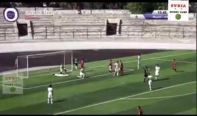 Syrian football league returned this week without fans and this happened