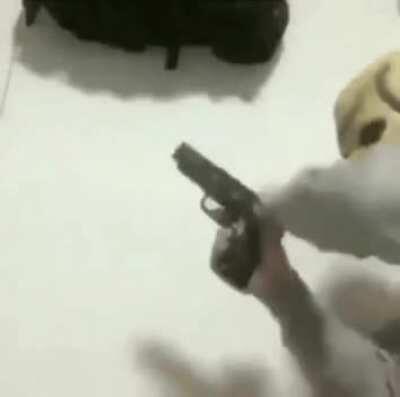 Spook shooter, reloader of strange firearms
