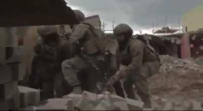 Turkish army and police in urban fightings, Somewhere in South-eastern Turkey, 3-4 years ago.