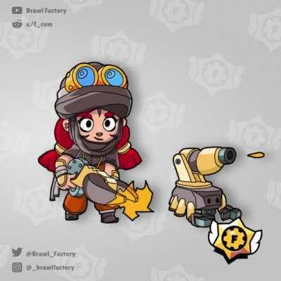 My first 100 skins for Brawl Stars, from July!
