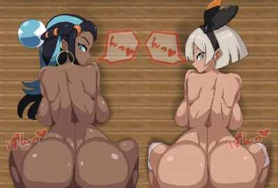 Nessa and Bea Training Ass