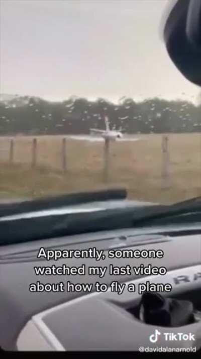 Pilot overshot the runway