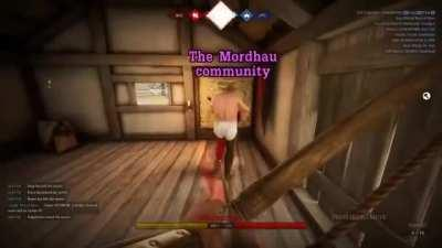 Womble encounters the Mordhau community