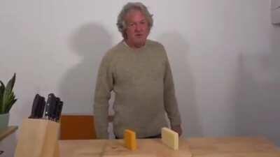 James May says cheese.