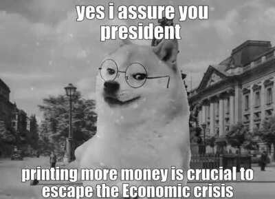 le hyperinflation of weimar has arrived