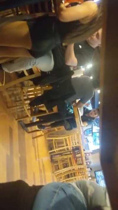 Creepshotted hot waiter at Hooters 😈