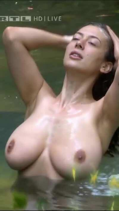 Leila Topless Bathing Super Slo-Mo (per request)