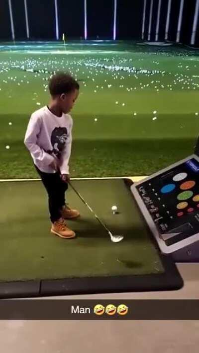 When you are too young to golf.