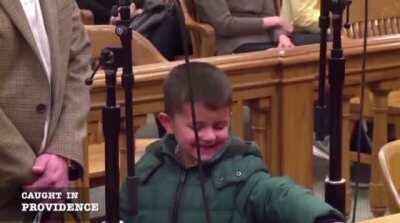 WCGW when you run a red light with your kid and bring him to court with you