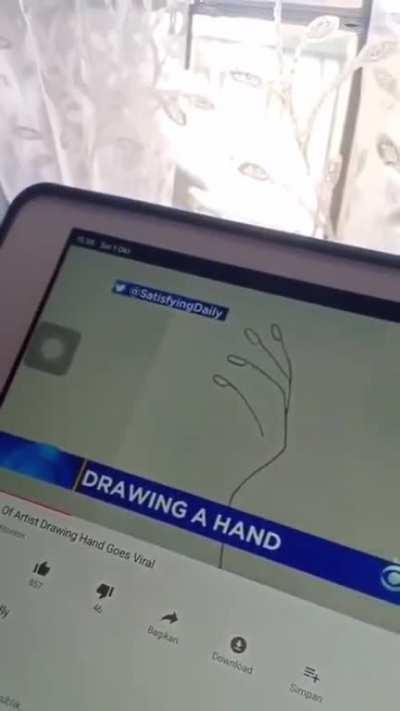 Drawing hands are hard