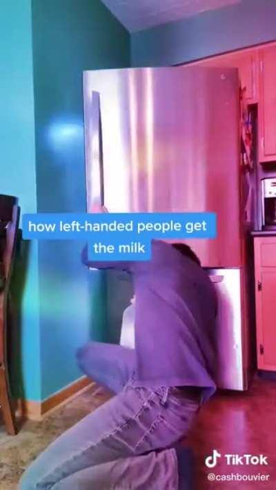 Careful not to tip the fridge over though