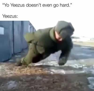 Yeezus does in actual fact, go hard