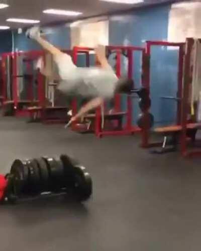 WCGW misusing gym equipment