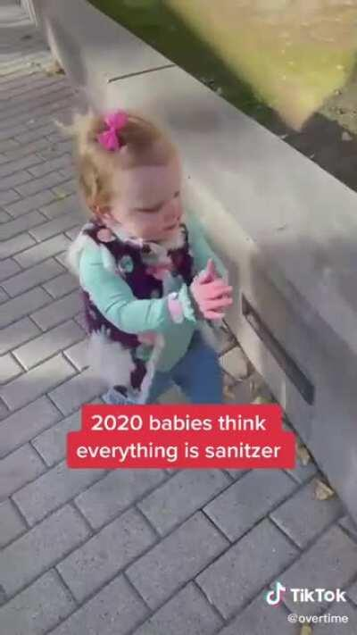2020 Babies know about hand sanitizer