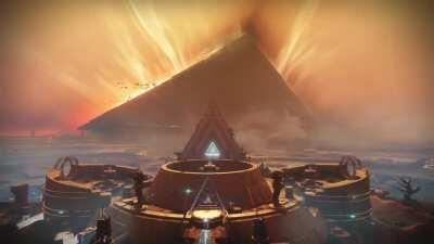 Mercury looks so beautiful with the pyramid ship; I made a live wallpaper for wallpaper engine
