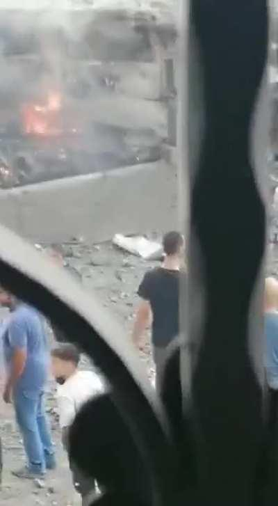 A new video from the huge blast site in southern Lebanon