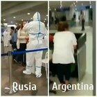 Covid2019 controles en Rusia vs controles en Argentina.