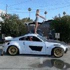 Back flip on top of the car