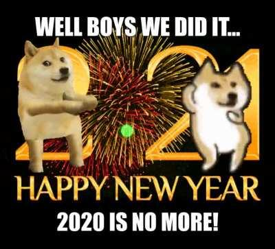 Le New Year has finally arrived
