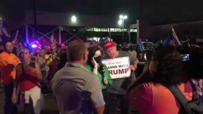 Disgruntled Trump Supporters in Arizona harass and verbally assault a Telemundo reporter trying to do her job.