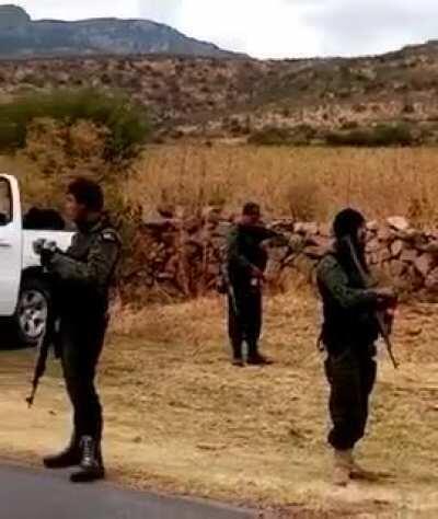 CDS sicarios in Juanchorrey, Zacatecas