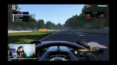 Formula 1 driver Lando Norris on his twitch stream...