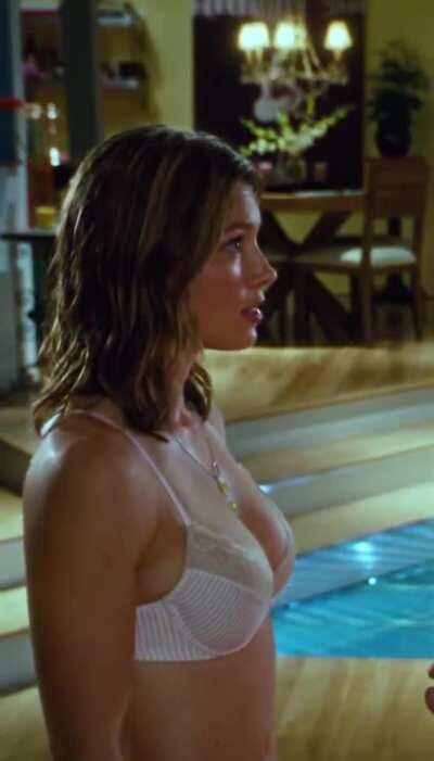 Jessica Biel's ass & some lucky guy getting a good feel of her tits