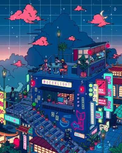 Village Hidden in the Neon [Ronald Kuang]