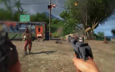 The Gunslinger takedown always gives me that