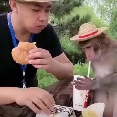 Tá gostoso o lanche muquinha?